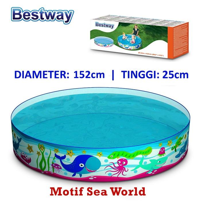 harga Bestway kolam renang anak tanpa pompa 152x25 kolam renang anak motif Tokopedia.com