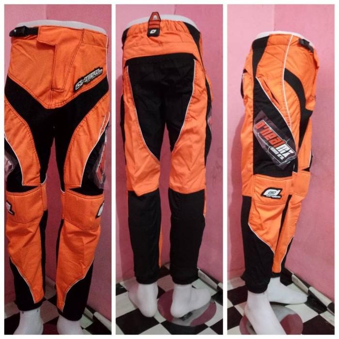 harga Celana trail warna orange | celana cross | celana adventure Tokopedia.com