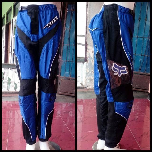 harga Celana trail warna biru | celana cross | celana adventure Tokopedia.com