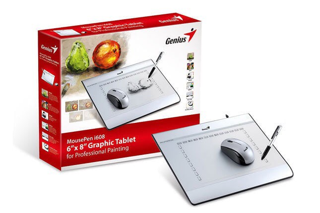 harga Genius mousepen i608x pen stylus tablet with cordless mouse pen tablet Tokopedia.com