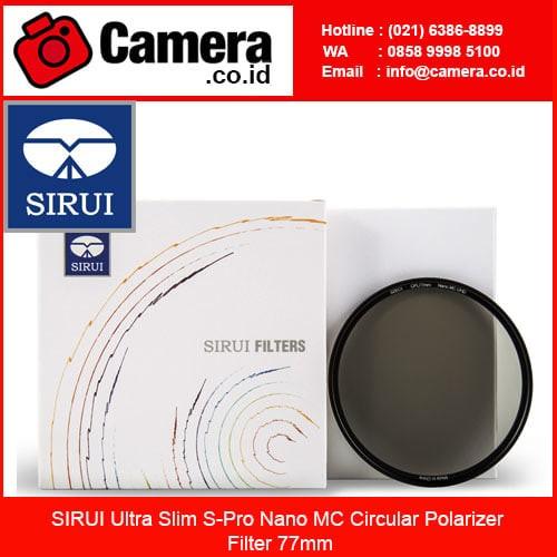 harga Sirui ultra slim s-pro nano mc circular polarizer filter 77mm /filter Tokopedia.com
