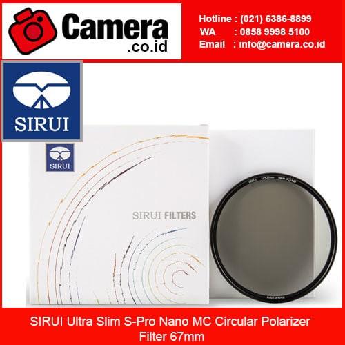 harga Sirui ultra slim s-pro nano mc circular polarizer filter 67mm /filter Tokopedia.com