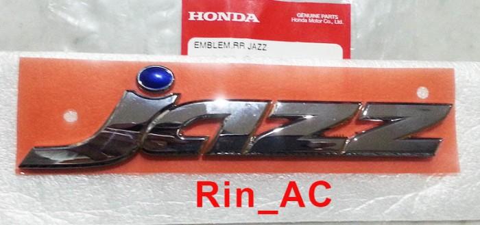harga Emblem logo  jazz  chrome titik biru honda jazz gd3 gen 1 '04-'08 asli Tokopedia.com
