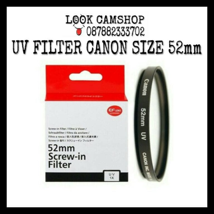 harga Uv filter canon 52mm Tokopedia.com