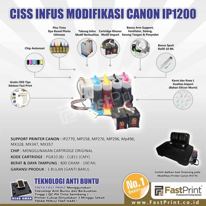 Jual Fast Print CISS Infus Modifikasi Canon IP1700 Plus