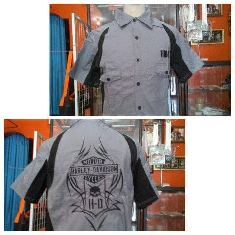 harga Kemeja Harley Davidson Grey Hd Tokopedia.com