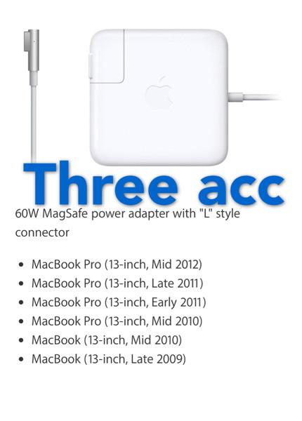 "Foto Produk Original Adaptor/Charger Macbook Magsafe Pro / White 13"" 60Watt dari Three Acc"