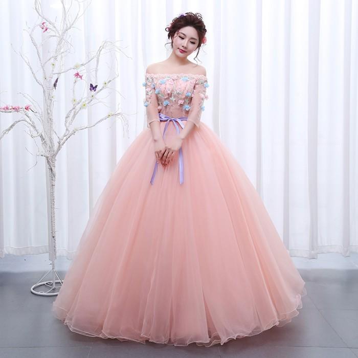 Jual 1711020 Pink Sabrina Gaun Pengantin Wedding Gown Wedding Dress
