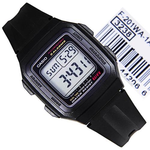 harga Jam tangan casio f-201wa-1a pria/wanita full black original Tokopedia.com