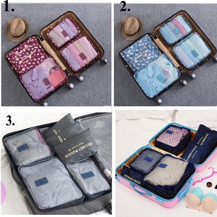 Lynx Bag in Bag 6 in 1 6pcs Travel Organizer Bag Tas Dalam Koper Ter