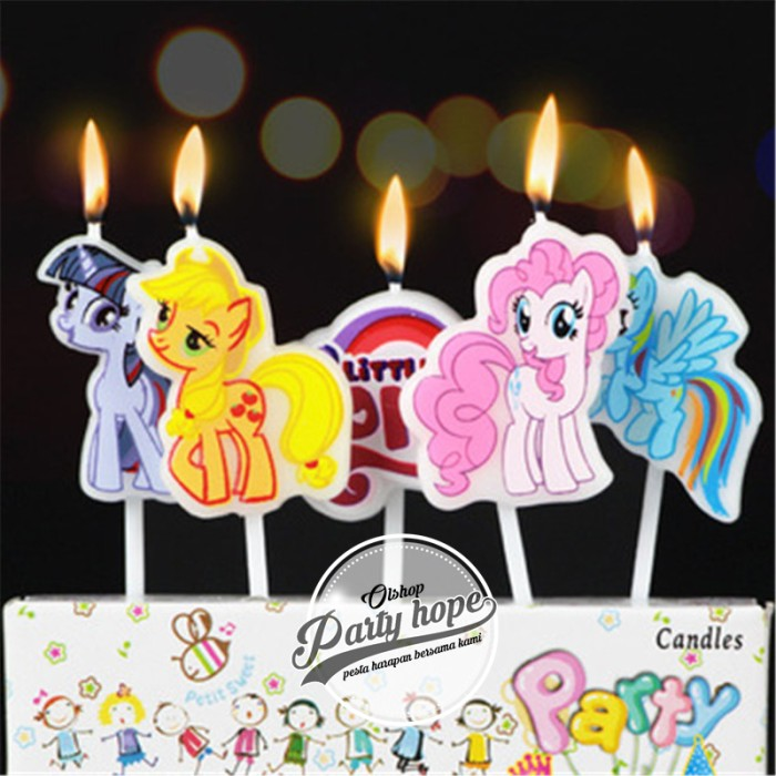 Foto Produk lilin karakter little pony / lilin ulang tahun / lilin little pony dari PARTY HOPE 2