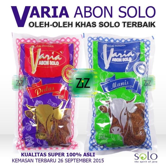 harga Varia abon solo sapi khas rasa & pedas manis kualitas super asli enak Tokopedia.com
