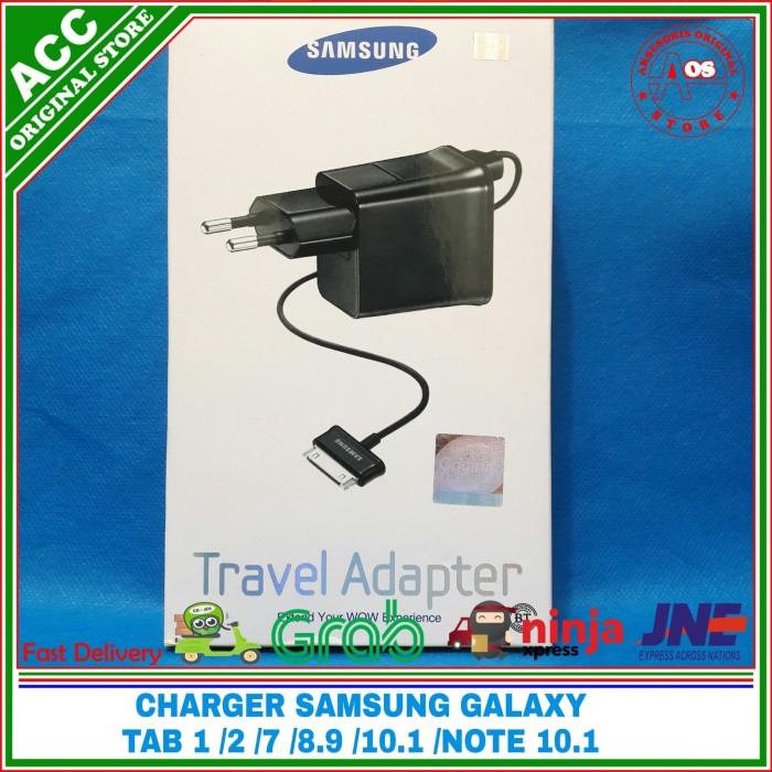 Foto Produk Charger Samsung Galaxy Note 10.1 Tab 1 2 7 8.9 10.1 original 100% - Hitam dari AKSESORIS ORIGINAL STORE