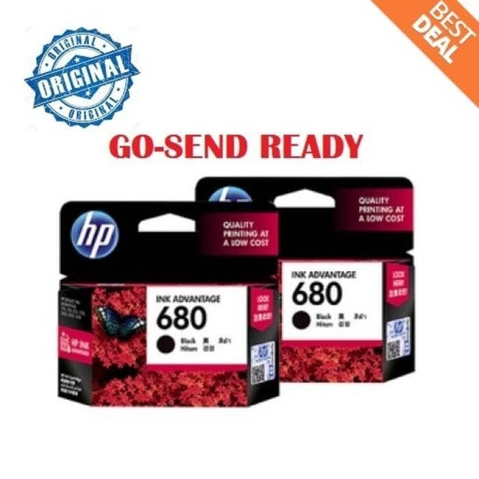 Hp 680 original black ink / hitam printer 2135 3635 3835 4675 1115