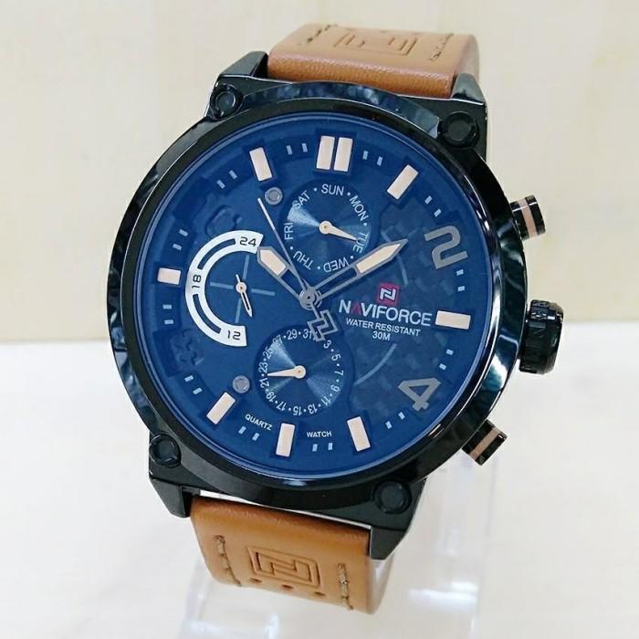 harga Jam tangan pria naviforce kulit chrono active ori anti air brown Tokopedia.com