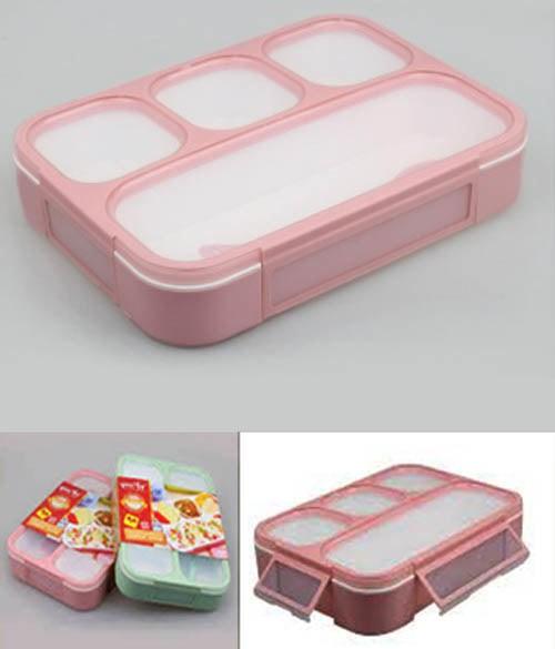 Lunch box 4 sekat yooyee grid box wadah bekal anti tumpah kotak makan