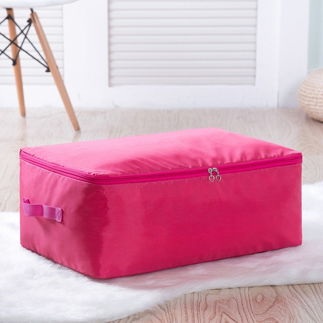 harga Tas organizer penyimpan selimut pakaian 70x50x30cm - rose Tokopedia.com