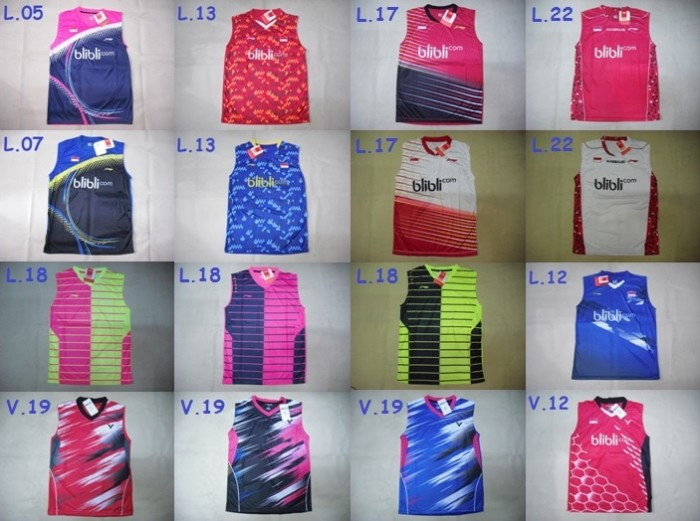 harga Singlet badminton / bulutangkis yonex :: lining :: victor mix all Tokopedia.