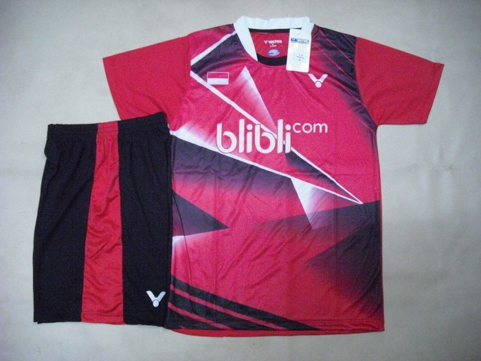 harga Setelan badminton / bulutangkis victor v.12 red Tokopedia.com