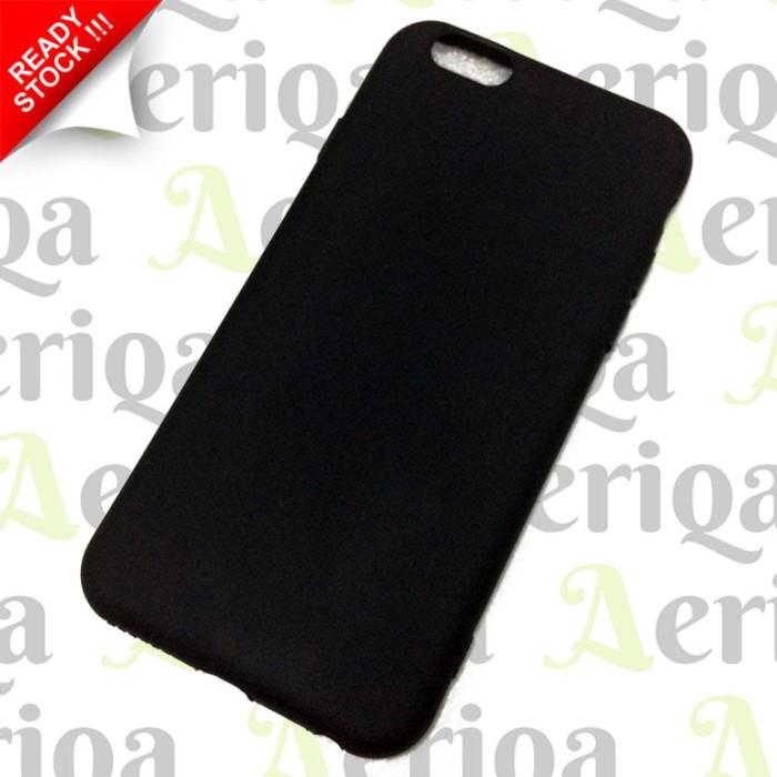 Case Slim Black Matte iPhone 6 / 6s - Silicon / Rubber Soft Case