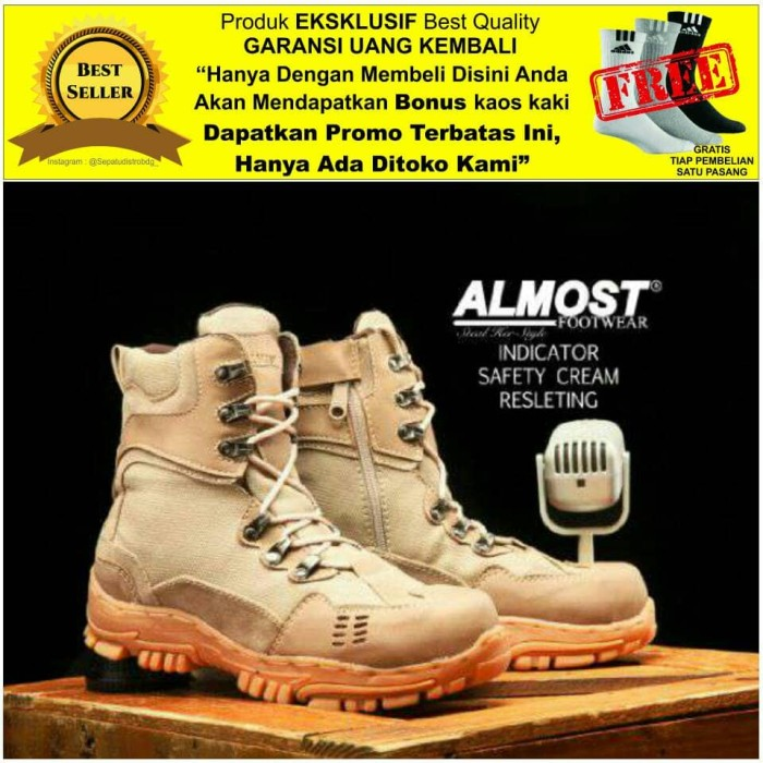 harga Best seller sepatu pria boots pdl original almost indicator Tokopedia.com