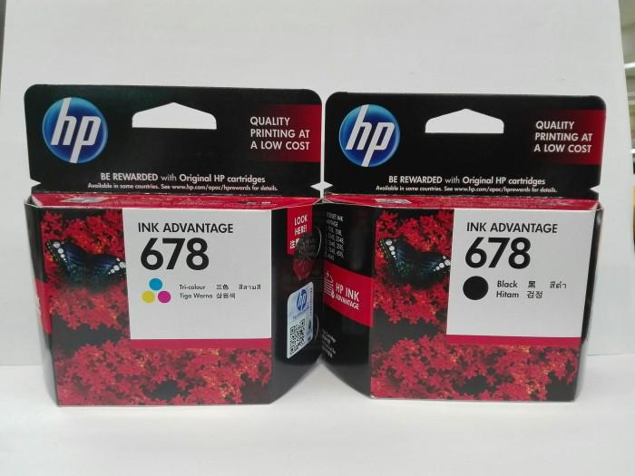 harga Tinta printer original hp 678 black & colour Tokopedia.com