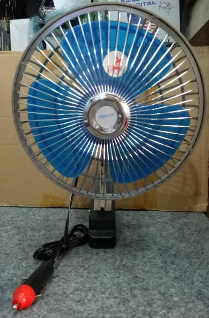 Kipas angin dc oscillating automotive fan 8 inch 12v 12 v