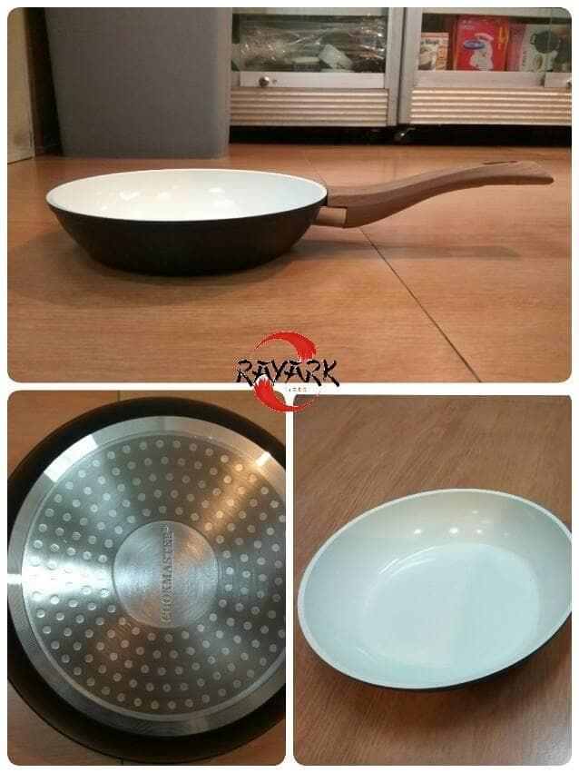harga 20 cm non-stick ceramic coating fry pan / wok / wajan penggorengan Tokopedia.com
