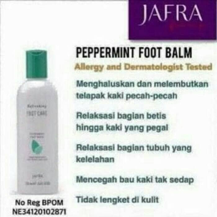 harga Peppermint foot balm care 250 ml jafra Tokopedia.com