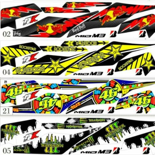 Sticker striping variasi racing mio z 2016