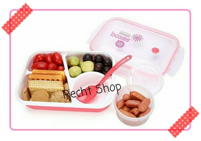 harga Kotak makan lunch box 4 sekat dengan tempat sop Tokopedia.com