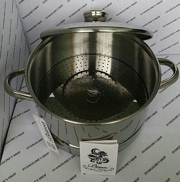 Bima 24 cm steamer with cover (panci kukus bima 24 cm)