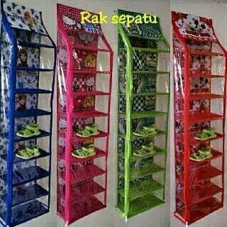 harga Rak sepatu gantung 9 susun karakter keropy hello kitty doraemon Tokopedia.com