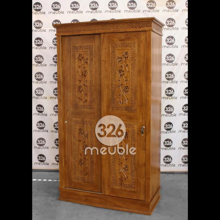 harga Lemari pakaian minimalis sliding lemari pakaian 2 pintu jati Tokopedia.com
