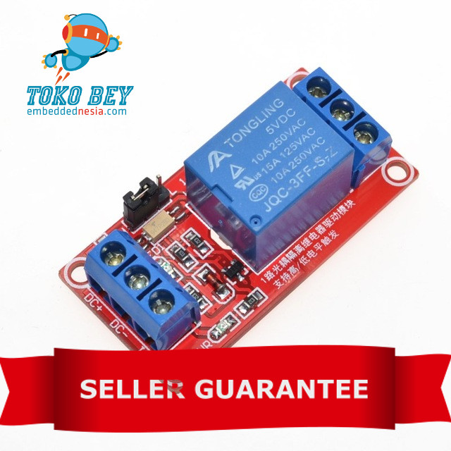 Foto Produk 1 Channel 5V Relay Module with Optocoupler High Level and Low Level dari TOKO BEY
