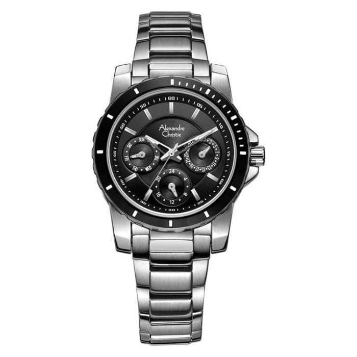 harga Jam tangan wanita alexandre christie ac 6141 silver black original Tokopedia.com