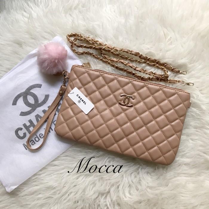 Jual Tas Chanel Clutch Import Free Pompom - kimi kimi shop  a24b4376ce