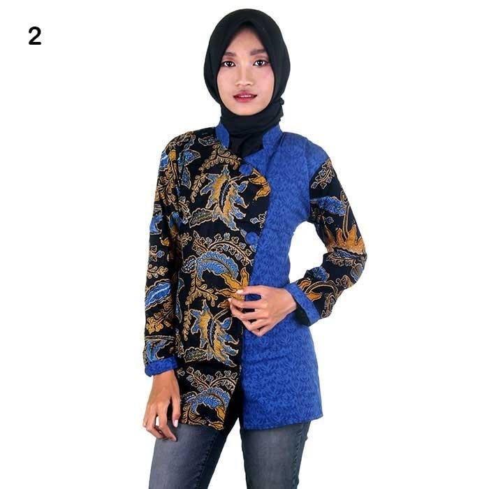 harga Baju pakaian wanita formal casual blouse / blus batik kerja wanita Tokopedia.com