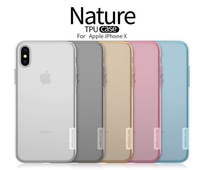 Foto Produk Soft Case Nillkin iPhone X TPU Nature Series dari Honeycomb