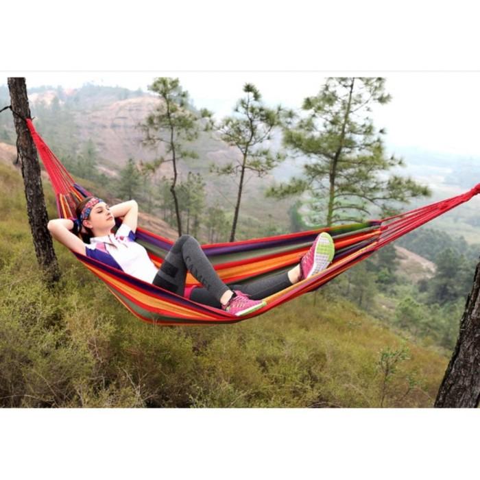 harga Hammock single tempat tidur gantung pohon ayunan tikar piknik rekreasi Tokopedia.com