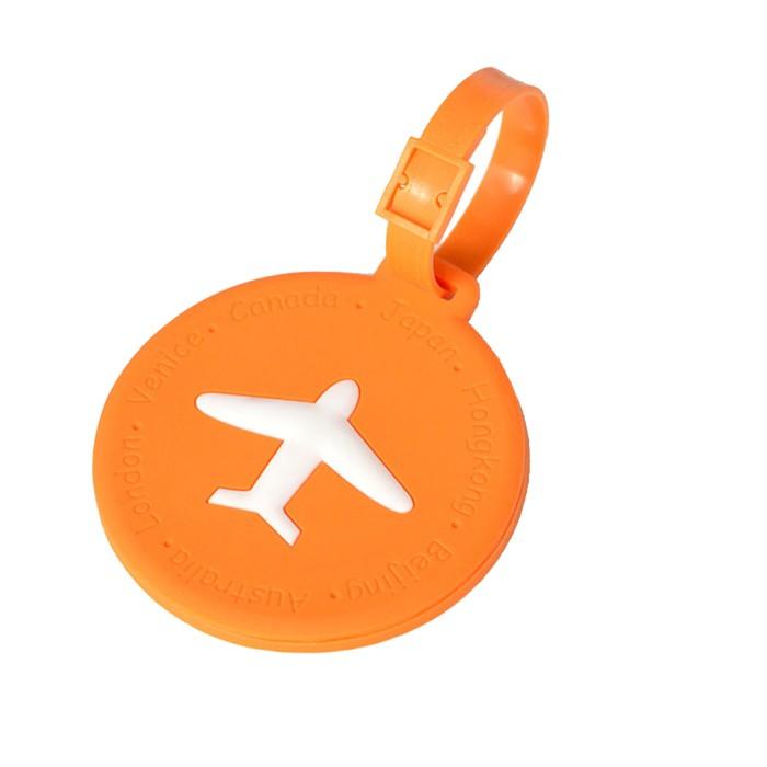 harga Name tag tanda tas koper silikon silicon silicone round orange 596 Tokopedia.com