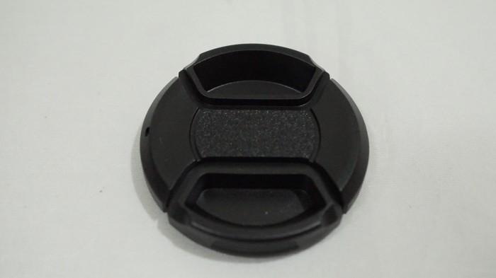 harga Lens cap 46mm - lenscap tutup lensa center pinch 46 mm Tokopedia.com