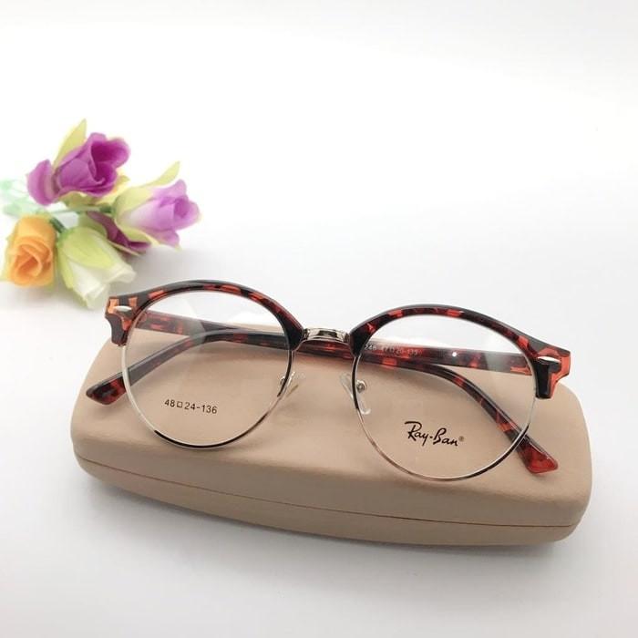 Frame Kacamata Minus Fashion Bd 6424 Bulat Pria Wanita Leopard ... ead7d62773