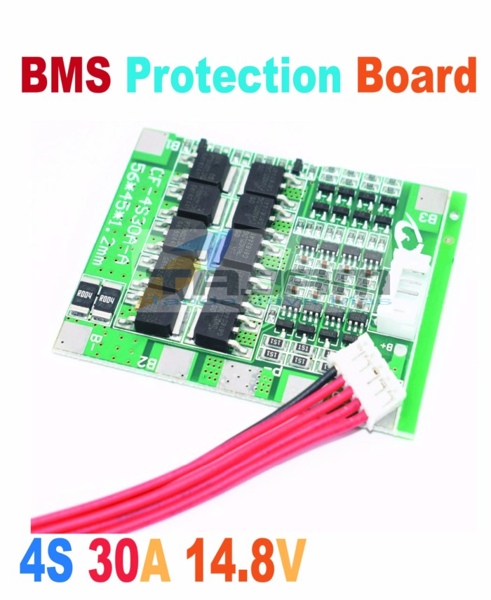 4S 30A 14.8V Li-ion Lithium Battery PCB BMS 18650 Charger Protection Board