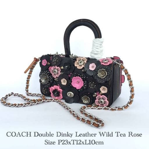 c32cfb45 Jual READY COACH Double Dinky Leather Wild Tea Rose - Jakarta Utara -  longchamp.mania | Tokopedia