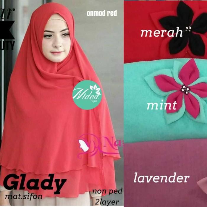 Jual Murah Glady Khimar Sifon Double Layer Non Pet Bestseller Kota Surakarta Firzana Hijab Grosir Tokopedia