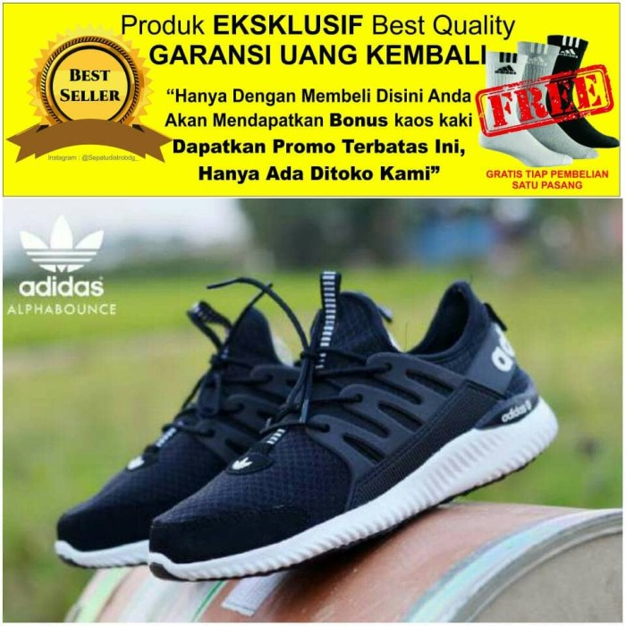 Jual Sepatu pria casual pria adidas alfabounce premium import grade ... 910aebb57e