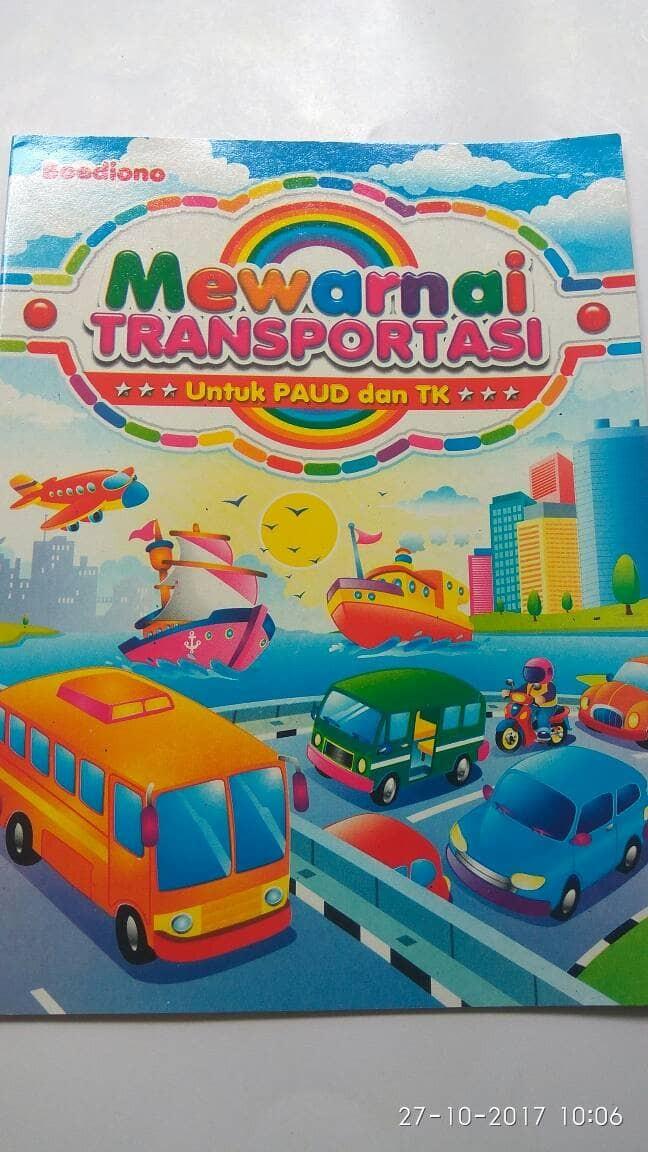 Jual Buku Mewarnai Transportasi Rayhans Collection Tokopedia