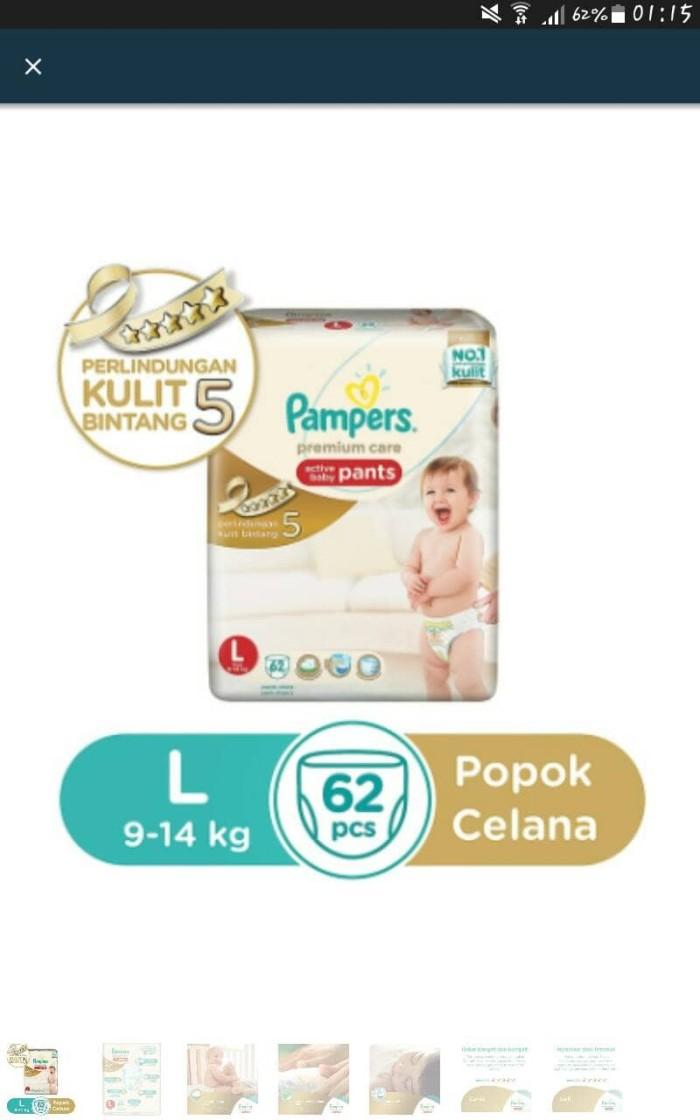 harga Pampers Premium Care Active Pants L62 /l 62 /l.62 Tokopedia.com