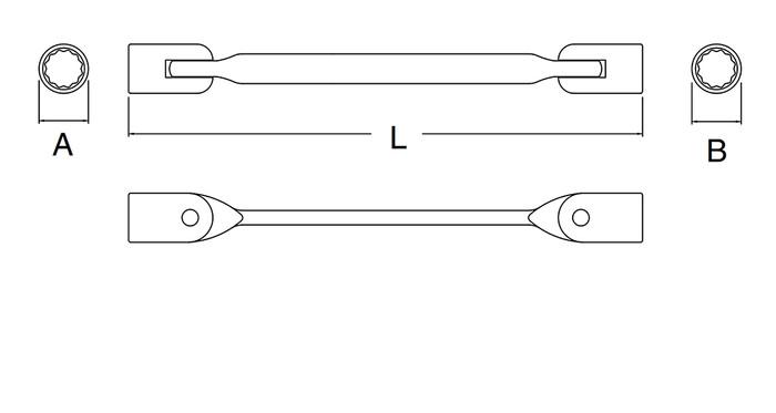 Kunci Ring Flexibel 12x13 mm FLex Head Socket Wrench 47503 SATA TOOLS